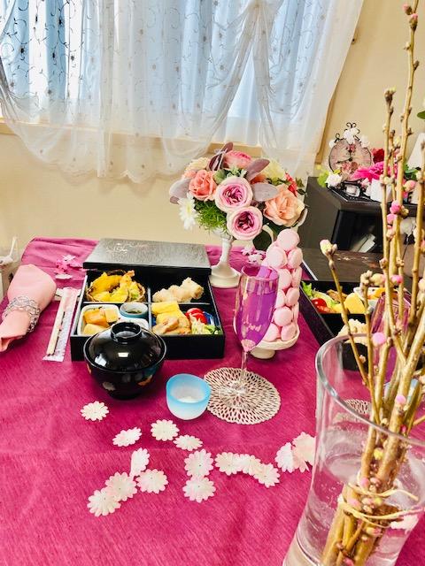 JTSテーブルコーディネート、ガラス、七夕の雛祭りランチ付き、中級実践編レポ